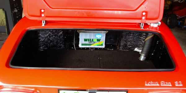 Battery Cradle Alternative Position S1 2 Elan Lotus